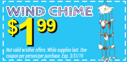 wind chime coupon